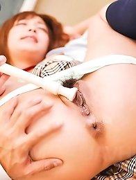 Sana Anju Asian has asshole and vagina fucked with many sex toys