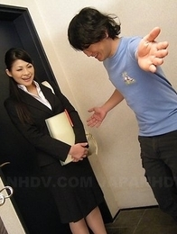 Naughty teacher Ryo Sasaki pleased