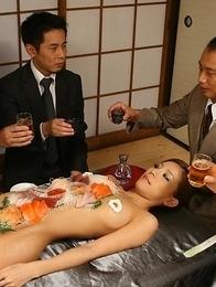 Ramu Nagatsuki fucked with a dildo