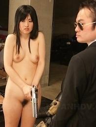 Shizuka Minami using sex toys.