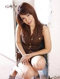 Remi Kawamura poses on the set