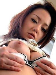 Rui Natsukawa exposes her tight ass