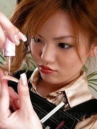 Setsuna gets drilled in nail salon