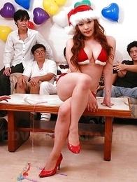 Busty Mirai Haneda gives hot head
