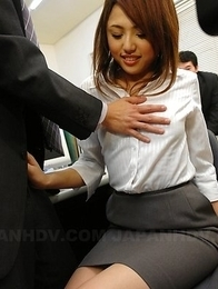 Rino Mizusawa gets rammed at work