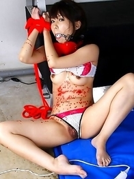 Maho Sawai gets tied up and gagged