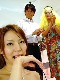 Horny Rino Asuka gives a hot head
