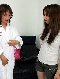 Aroused Shiho Goto gives blowjobs