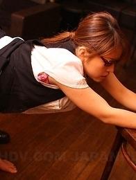 Japanese hairy queen Aoi Mochida