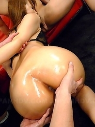 Porn queen Saki gets gangbanged