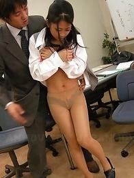 Satomi Suzuki enjoys cum on her tits