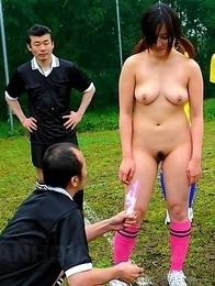 Soccer girl loves sex toys so much