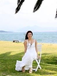 Manami Ichikawa posing outdoors