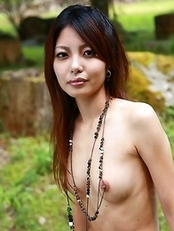 Sexy Sakurako showing off outdoors