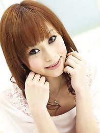 Miina Yoshihara Asian rubs twat with long nails and uses vibrator