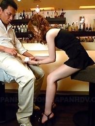 Hot girl Shiori Amano sucks a dick