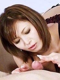 Mai Kuroki Asian with big and nude cans gets cum from shlong