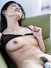 Ryo Sasaki Asian has pussy fingered and fucked with vibrator