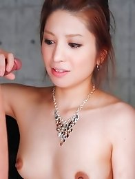 Tsubasa Aihara Asian has mouth full of cocks and gets cum in cunt