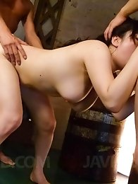 Azusa Nagasawa Asian exposes big cans while sucks and rides dicks