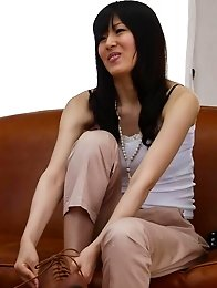 Nozomi Koizumi Asian undresses and gets vibrators on fish taco