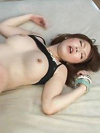 Sayaka Tsuzi Asian puts vibrator on clit and rides and sucks dong
