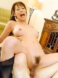 Akari Asagiri Asian gets cock in mouth and in shaved fish taco