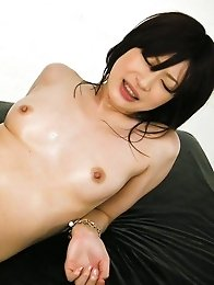 Riko Oshima Asian has assets oiled and rides dicks she sucked