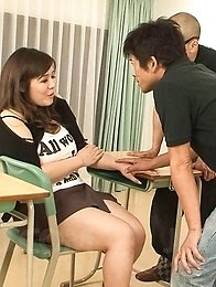 Yume Sazanami Asian with huge jugs out of corset is screwed a lot