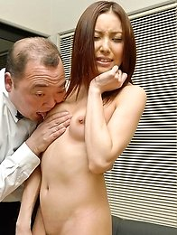 Nozomi Mashiro Asian has nipples sucked and nooky fingered
