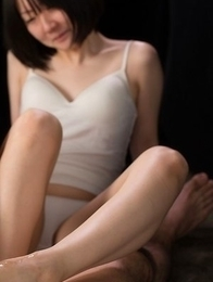 Yui Kawagoe and her girlfriend pose together before the footjob part begins
