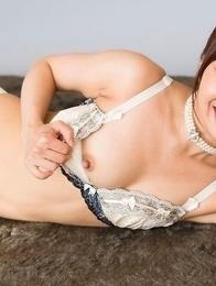 Leggy Japanese hottie Mio Yoshida lets this guy eagerly fuck her feet