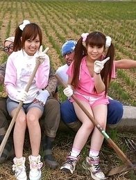 Nagisa, Hana, Maria are farmer girls ready
