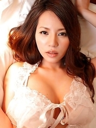 Ruri Saijou shows huge knockers in different sexy lingerie