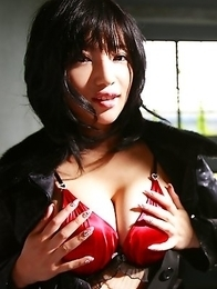 Yuuri Morishita with big assets and hot lingerie is playful