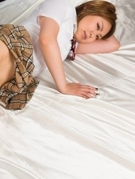 Sensual foot fetish action with a remarkable Ayano Hidaka dressed a schoolgirl