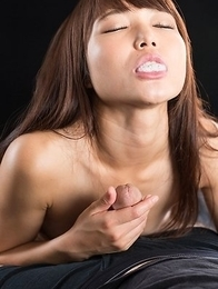 Shino Aoi Massages Dick with Cum