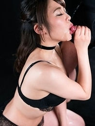 Yui Kawagoe Cum Filled Mouth Group Blowjob