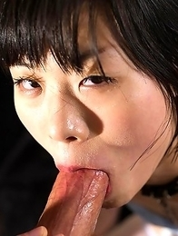 This is shy and inexperienced Yuzuki Otohata first experience of getting face fucked.