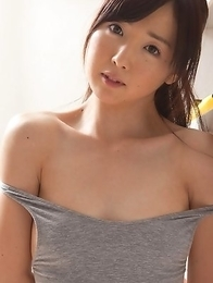 Mio Ayame takes lingerie off and shows some of her curves