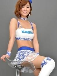 Ichika Nishimura in long boots is sexy boytoy in latex
