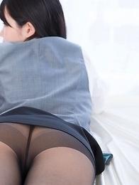 Sexy schoolgirls in pantyhose Sara Yurikawa and Yui Kasugano posing together