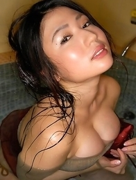 Nonami Takizawa with immense cans shows ass under lingerie