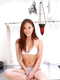 Natsuko Tatsumi is in mood of going outside in lingerie