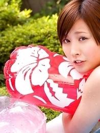 Radiant Iyo Hanaki loves sun, fresh air and energizing posing